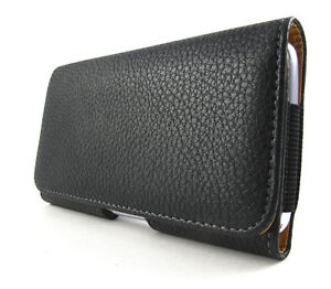 BLACK PREMIUM LEATHER BELT CLIP POUCH CASE FOR LG OPTIMUS G PRO E980 ATT