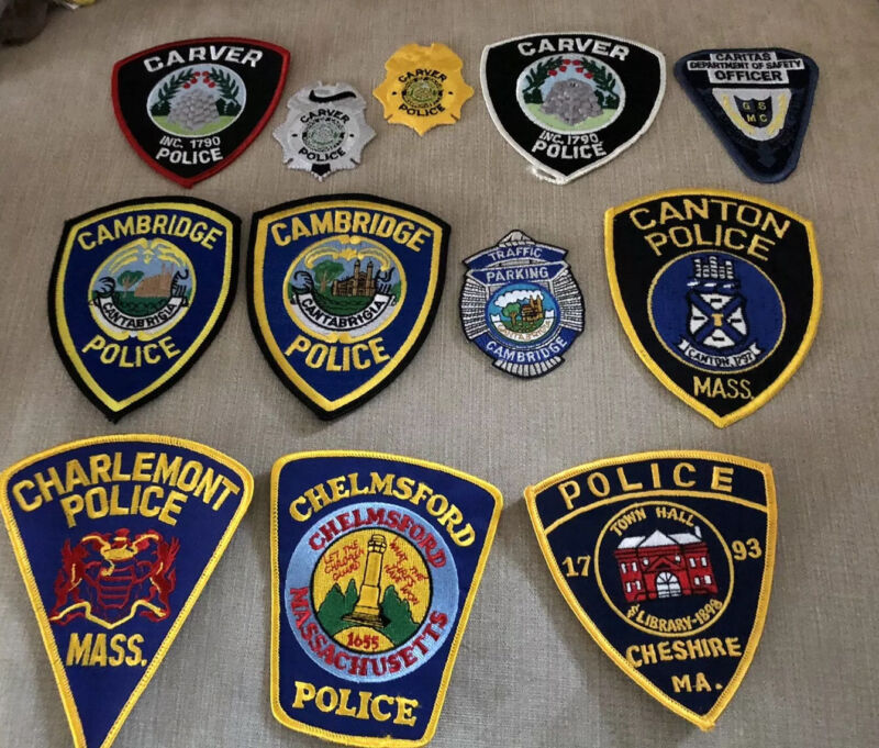Massachusetts Police Patch Lot of 21 C's
