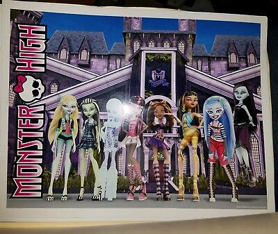 Monster High Wave 1 Original Group Poster Print, 81/2 x 11inches. BR-BT - Monster High Posters