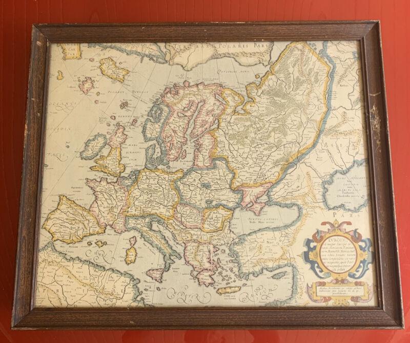 1800's Copy Of Europa ad magnae Europae 1595 Gerardi Mercatoris  Europe Map
