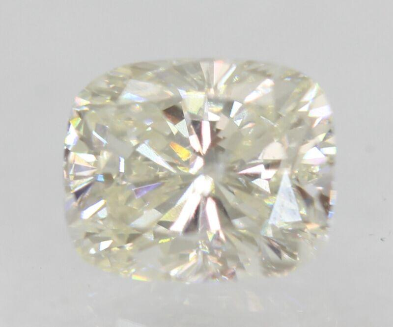 Certified 0.79 Carat G Color SI1 Cushion Shape Enhanced Natural Diamond