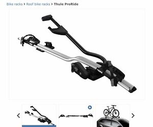Bike Carriers Roof Mount (Mazda - Rebranded Thule ProRide)