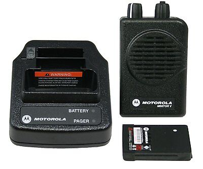 New Motorola Minitor V 5 Pager Vhf 151-159 Mhz 2ch Stored Voice - Fire - Ems
