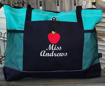 Personalized Teacher Appreciation Gifts Teacher Tote Bag Monogram Handbag Zipper