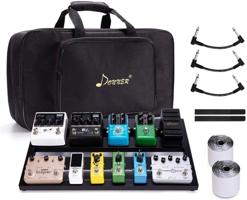 Donner Guitar Pedal Board Case DB-3 Aluminium Pedalboard 20