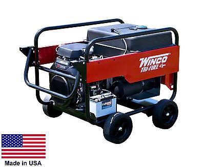 Portable Generator Tri Triple Fuel - Ng Lp Gasoline Fired - 12 Kw - 120240v