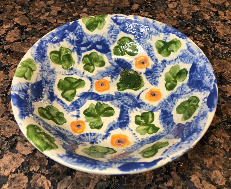 Vintage Ceramic Frog Bowl  , Fruit Bowl , Trinket Dish