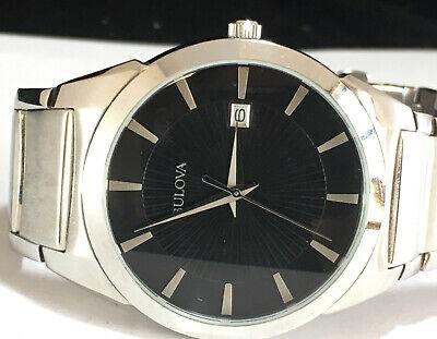 Bulova Dress Classic Stainless Steel Men's Watch - 96B149 - MSRP $225 Mens Classic Dress Watch