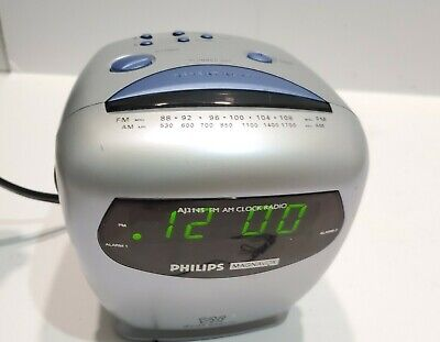 Philips Magnavox Dual Alarm Clock Am Fm Radio - Tested