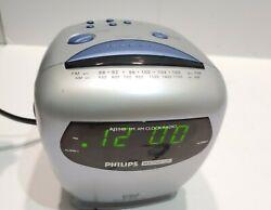 Philips Magnavox Dual Alarm Clock Am Fm Radio - Tested