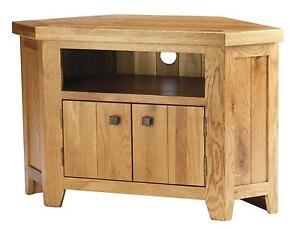 Corner Oak TV Cabinets