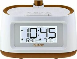 Projection Alarm Clock With Soothing Nature Sleep Sounds On Wall Ceiling New