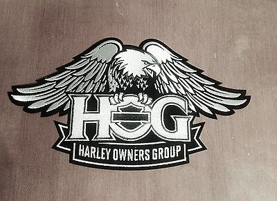Harley Owners Group  Hog  Large Silver Eagle Patch  Ships International