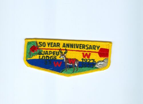 OA  Lodge 33 Ajapeu S3  50th anniversary dark blue water flap