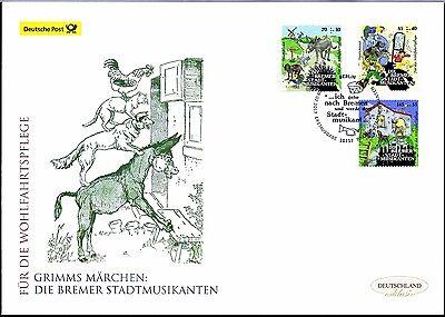 BRD 2017: Die Bremer Stadtmusikanten! Post-FDC der Nr. 3282 - 3284! 1703