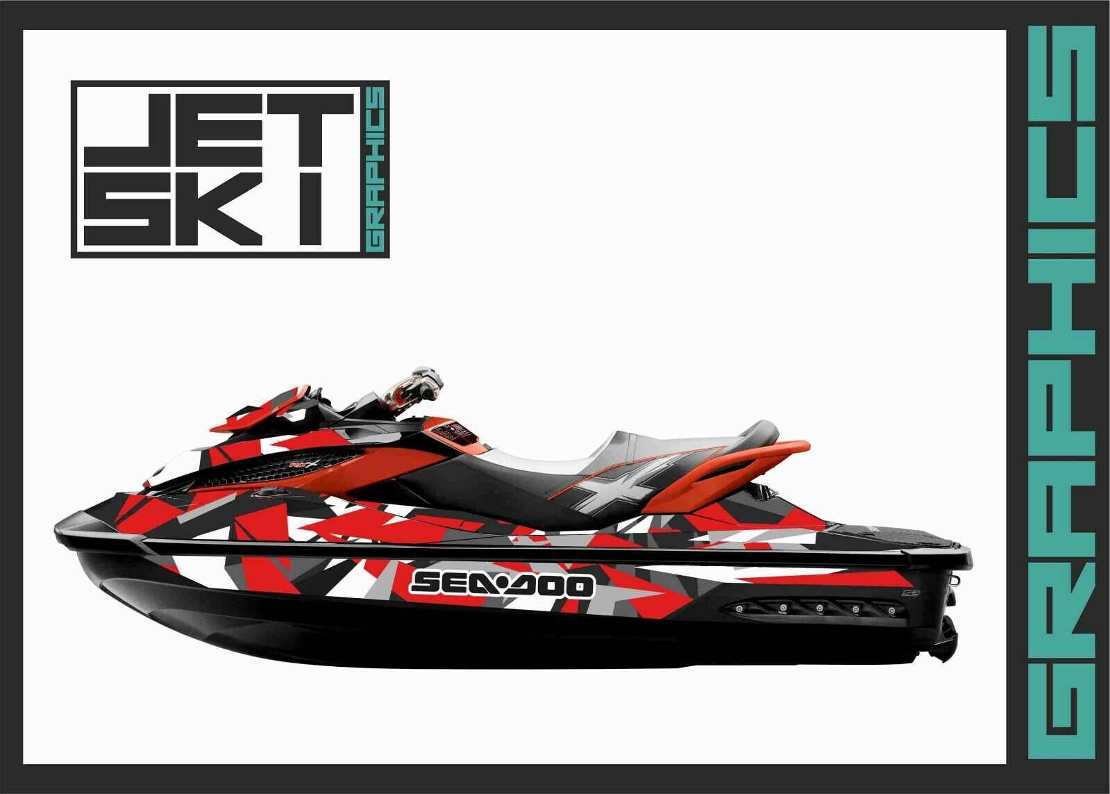 Sea-Doo RXT RXTX GTX 260 300 WAKE PRO 215 2009-2017  jetski kit graphics decals