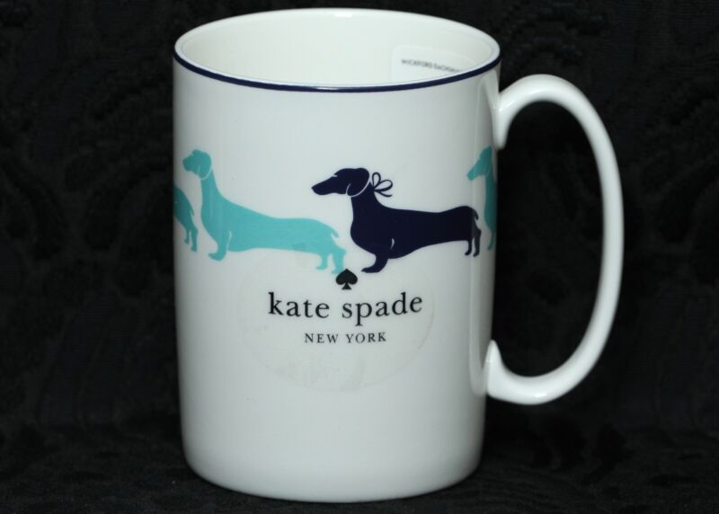 LENOX WICKFORD DACHSHUND by KATE SPADE Bone China Mug #3