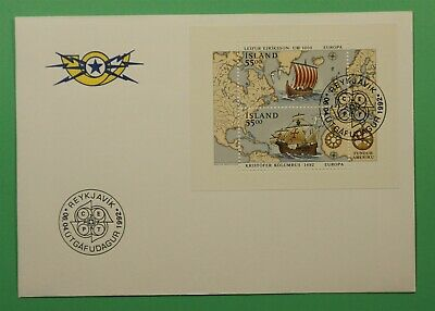 DR WHO 1992 ICELAND FDC EUROPA LEIF ERIKSON S/S  C241453