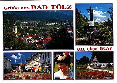 Bad Tölz an der Isar ,Ansichtskarte, gelaufen