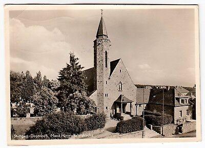 STUTTGART-DEGERLOCH Kath. Mariä Himmelfahrtskirche * Foto-AK um 1950