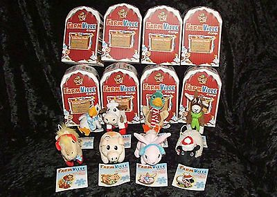 Zynga Farmville Collectable Plush Christmas Ornament Complete Set Of 8  New