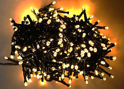 LED Lichterkette 400 LEDs warmweiß IP44 Länge 11m Innen Außen
