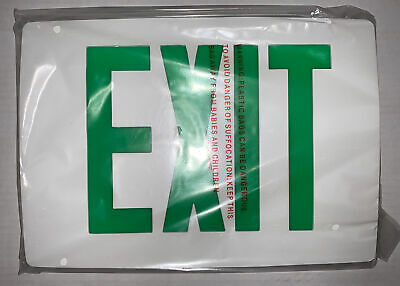 Lithonia Lighting Lqc W 1 G Die Cast Exit Sign Battery Backup White W Green