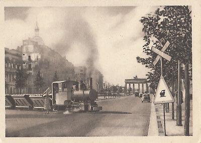 AK Berlin Unter den Linden Unused with Railway Brandenburger Gate (Gate Unter Den Linden Berlin)