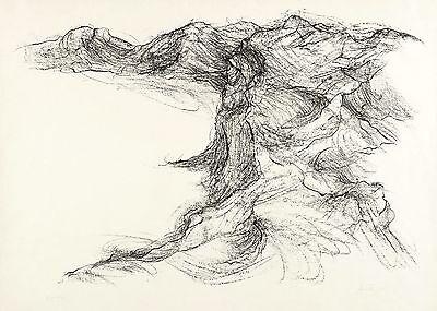 WIELAND FÖRSTER - OHNE TITEL (GOLF VON TUNIS) - Lithografie 1969