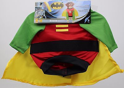 DC Comics Robin Pet Dog Costume Shirt with Detachable Cape & Eye mask Size Small (Robin Dog Costume)