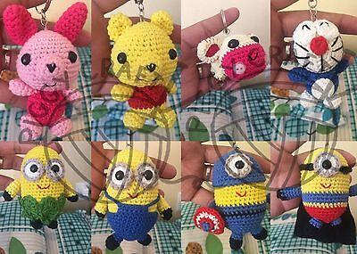 New Yarn Keychains (Handmade): Minion, Bear, Cow, ...