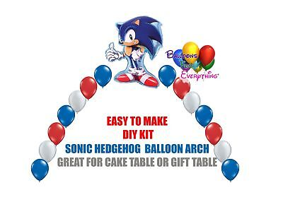 Sonic the Hedgehog Balloon Arch Party Decorations, Cake Table Gift Table, DIY KI