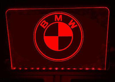BMW ILLUMINATED LIGHT UP SIGN PLAQUE
