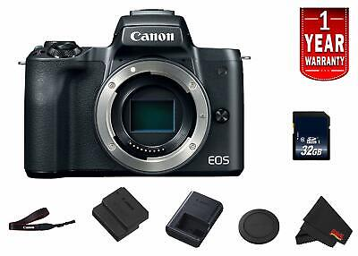 Canon EOS M50 Mirrorless Digital Camera (Intl Model) Model (Black) Body Starter