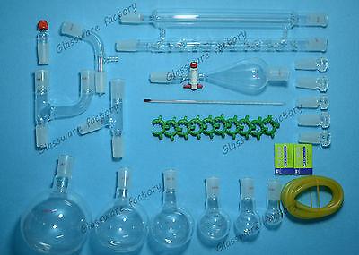 Organic Chemistry Glassware Kitlab Glass Set244031pcslab 2440 Glassware