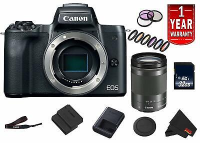 Canon EOS M50 Mirrorless Digital Camera (Intl Model) Model w/ 18-150 is STM Lens