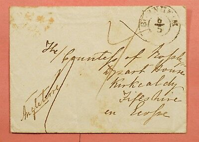 1847 GERMANY STAMPLESS BORNHEIM TO ENGLAND