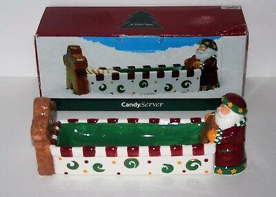 St Nicholas Square Candy Server, Cookie Treat Tray Platter, Santa, 1998 Nicholas Square Candy