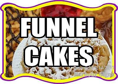 Funnel Cakes Decal Choose Your Size Food Truck Concession Vinyl Sticker
