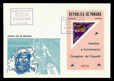 DR WHO 1964 PANAMA FDC SPACE CACHET S/S TRIANGLE  g21848