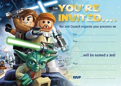 #88 LEGO STAR WARS Pack of 10 kids children birthday party INVITATIONS
