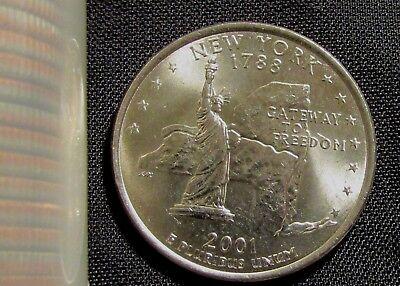 - 2001-D Denver Mint New York State Quarter BU