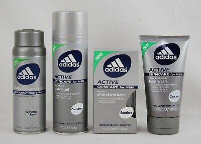 Adidas Active Men's Bundle: Body Spray, Face Wash, After Sha