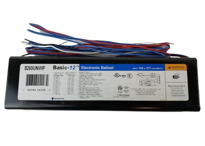 Basic 12 B260IUNVHP Universal Electronic Ballast BRAND NEW FREE SHIPPING!!!
