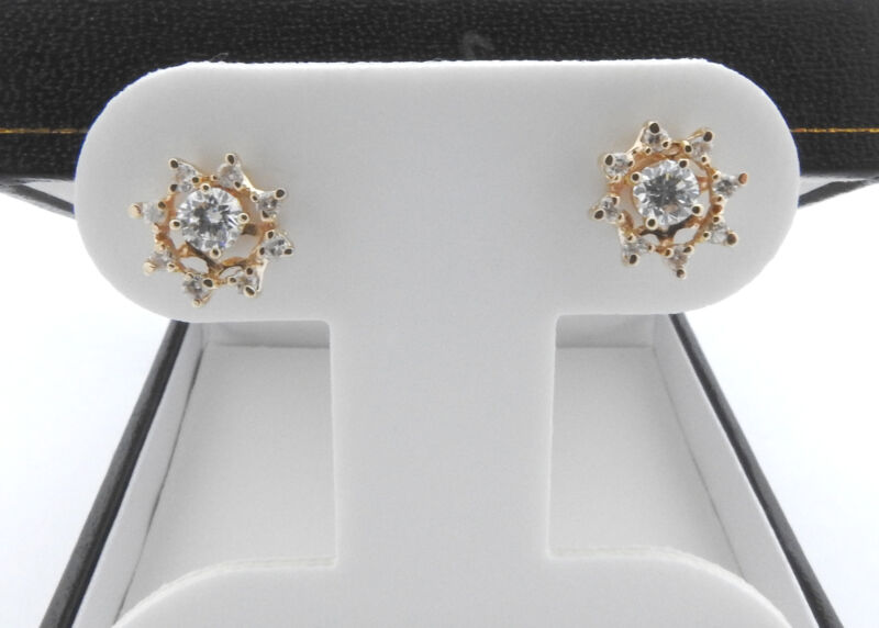 Vintage 14 Karat White Gold and Diamond Earring Jackets #7403
