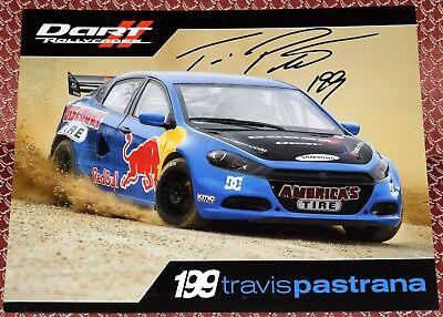 Travis Pastrana Signed 8X10  Dart Rally Photo   X Games