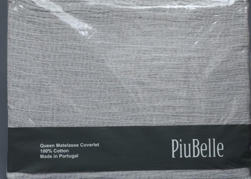 PIUBELLE PREMIERE GRAY MELANGE 100% Cotton WAFFLE MATELASSE