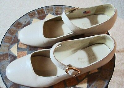 Girls Mollie Munro Dress Shoes/Size 6M/Off-White (Off White Girls Dress Shoes)