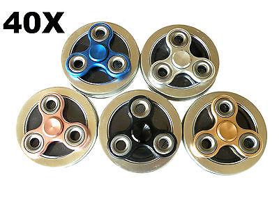 40x of Bulk Titanium Metal Fast Spin Triangle Fidget Tri Spinner Toys USA Stock