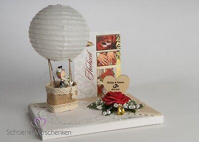 Geldgeschenk zur Hochzeit mit Gravur !!!